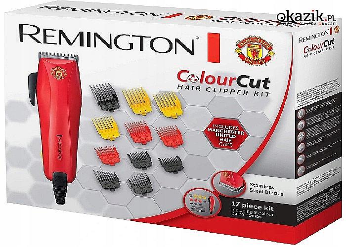 Remington Colour Cut Manchester United z 9 końcówkami, wybierz kolor, którego potrzebujesz, aby stworzyć pożądany styl