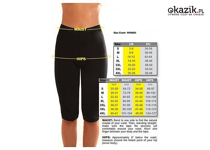 Spodnie treningowe neoprenowe, spodnie dzięki którym szybciej i skutecznej pozbędziesz się zbędnych kilogramów