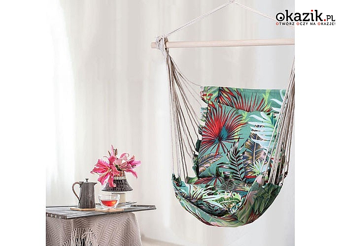 Ogrodowe krzesło brazylijskie ze stelażem doskonale sprawdza się podczas relaksu na świeżym powietrzu
