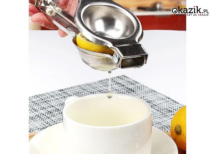 Za sprawą ręcznego wyciskacza do cytryn w szybki i prosty sposób uzyskasz świeży sok pełen witamin