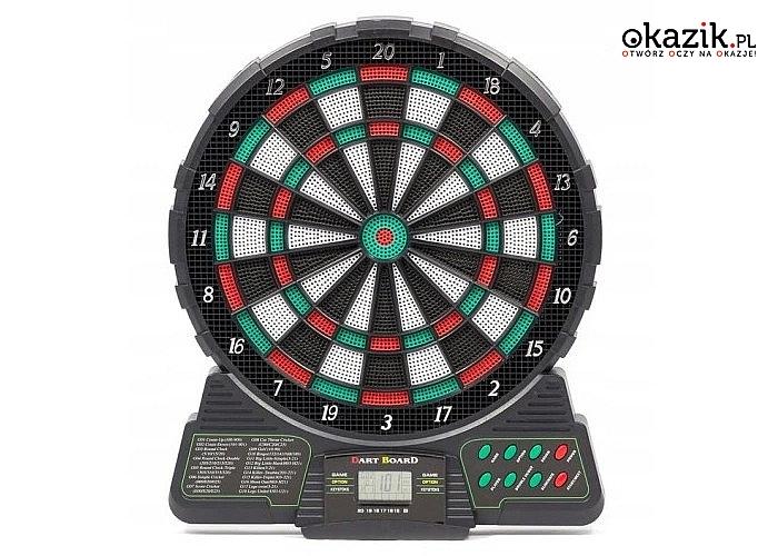 Elektroniczna tarcza dart! 18 gier! 6 rzutek gratis! Pozwala na równoczesną grę dla nawet 8 osób!