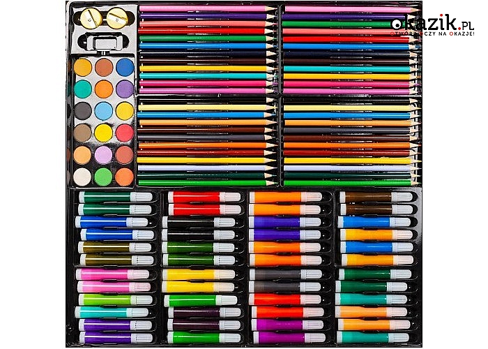 Zestaw przyborów do malowania pozwala dziecku wyrazić otaczający świat w formie artystycznej