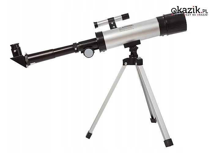 Teleskop astronomiczny przystosowany dla początkujących odkrywców kosmosu