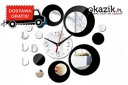Niezwykle oryginalne lustrzane zegary ścienne! Nowoczesny design oparty na niezawodnym mechanizmie kwarcowym!(99 zł)