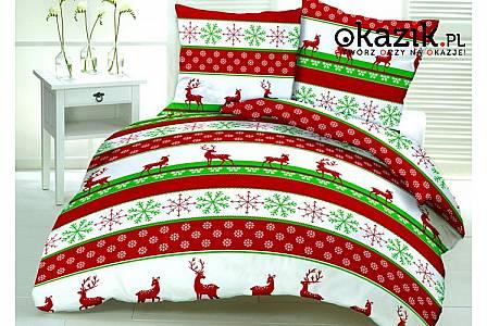 Przepiękny komplet pościeli świątecznej! Mnóstwo wzorów! 100% Bawełna! Rozmiar 160 x 200 lub 200 x 220
