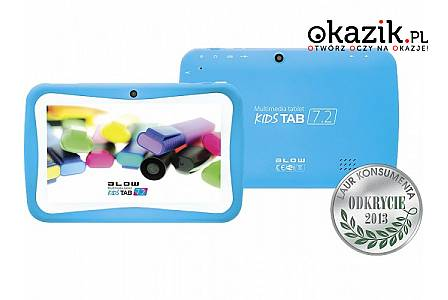 Tablet kids TAB 7'' QUAD CORE BLUE + etui