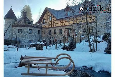 STARY ZAMEK-TWIERDZA otoczony fosą w Golejowie na 2-, 3-, 4- lub 7-dniowy zimowy wypoczynek dla 2 lub 3 osób