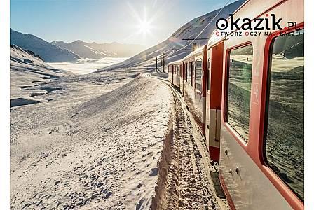 """Szwajcaria! Zimowe piękno! Przejazd słynnym """"Czerwonym pociągiem"""" Śniadania w cenie!"""