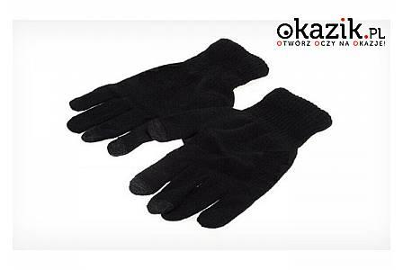 Rękawiczki zimowe unisex ułatwiają obsługę ekranów dotykowych na mrozie