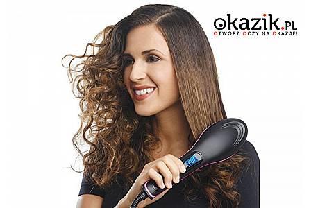PROSTUJĄCA SZCZOTKA do włosów, która łączy cechy profesjonalnej prostownicy i szczotki modelującej