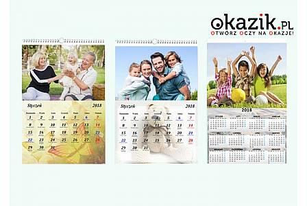 Fotokalendarz z Twoimi zdjęciami! Trzy formaty do wyboru: A5, A4 lub A3! Koszt przesyłki w cenie kuponu!