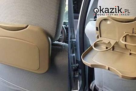 Idealnie sprawdza się w podróży! Stolik jest bezpieczny dla dzieci!