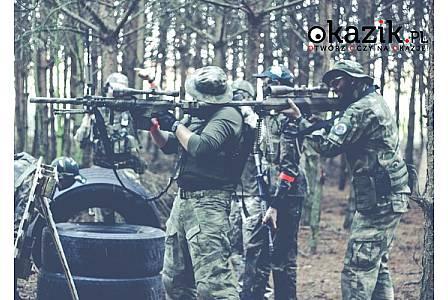 Strzelanka Airsoft gun w pakiecie Szturm XXL z sesją zdjęciową i ogniskiem. Nowa Tuchorza k. Wolsztyna, Wielkopolska