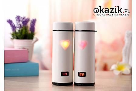 KUBEK TERMICZNY ze wskaźnikiem LED informującym o temperaturze napoju. Pojemność aż 3600 ml!