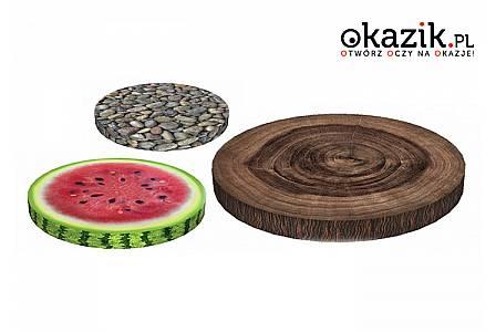 Drewno, kamyki, owoce… Efektowne poduchy na krzesła. 12 modeli do wyboru