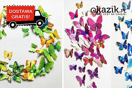 Zjawiskowa naklejka ścienna- przepiękne motyle w 15 wariantach kolorystycznych do wyboru