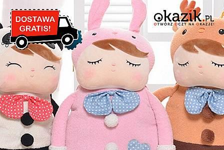 Plecak w kształcie lalki Metoo, stanie się nierozłącznym i ulubionym towarzyszem zabawy każdego dziecka