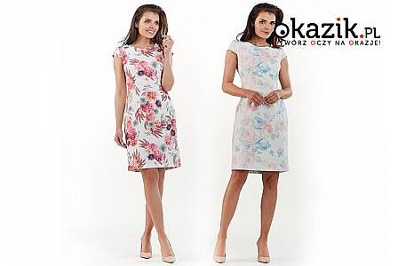 Mini letnia sukienka z krótkim rękawem. Modne kolory i wzory!