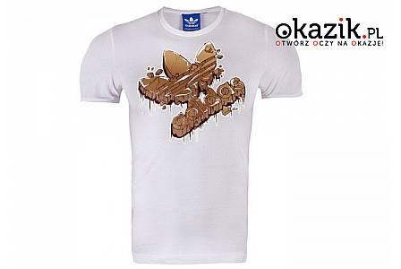 T-shirt Adidas Stone Age! Bawełniana koszulka niemieckiej marki Adidas w efektowną aplikacją przodzie!