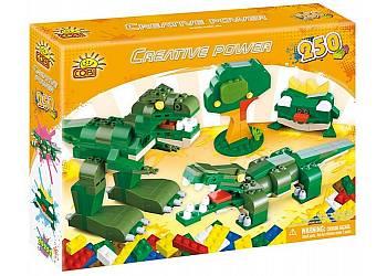 Creative Power 250 elementów Dinozaur Żaba Krokodyl