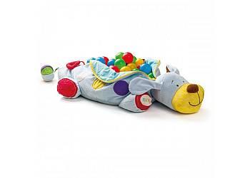 Wielofunkcyjny jeżdżący pies z 60 piłeczkami
