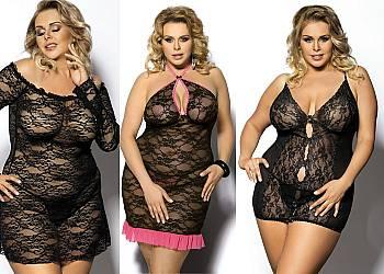 Ekskluzywna i seksowna bielizna erotyczna Plus Size! Najwyższa jakość materiałów! 3 kolory do wyboru!