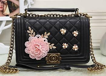 Kwiecista torebka Chanel