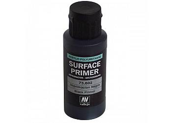 VALLEJO Podkład Akryl-Po liuretan. Czarny60 ml