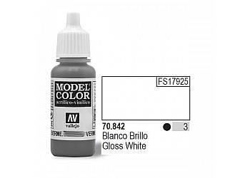 VALLEJO Farba Nr3 Glossy White 17mlMatt