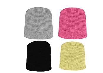 Zimowa czapka w modnym wzorze