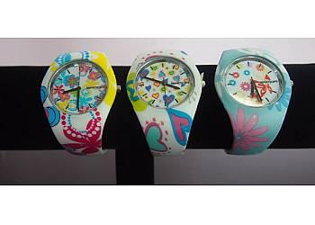 Silikonowy zegarek we wzorki