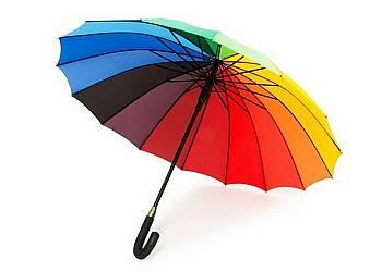 Tęczowy duży parasol