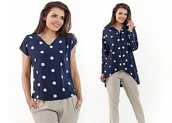 Bluzka lub koszula w kropki Awama