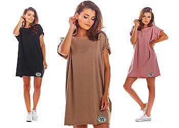 Mini sukienka z krótkimi rękawami