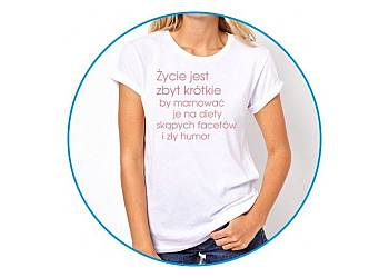 Zabawna koszulka damska
