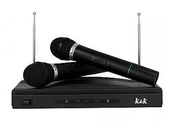 Bezprzewodowy Zestaw Karaoke  z dwoma  mikrofonami