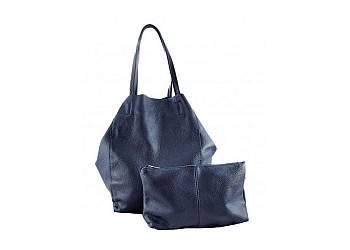 Skórzana torebka 2w1 z kosmetyczką