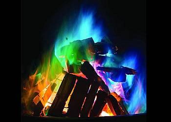 Kolorowy proszek do ognia
