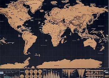 Mapa świata - zdrapka