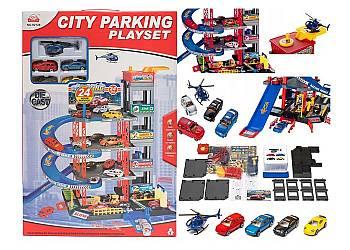 Wielopoziomowy parking samochodowy