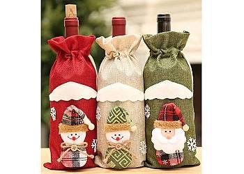 Świąteczny pokrowiec na wino
