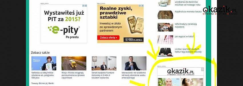 Okazik.pl na portalu Onet.pl