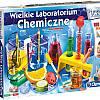 zestaw edukacyjny WIELKIE LABORATORIUM CHEMICZNE –  w sam raz dla początkujących chemików, szeroka gama instrumentów laboratoryjnych  i bezpiecznych substancji chemicznych do przeprowadzenia ponad 180 eksperymentów
